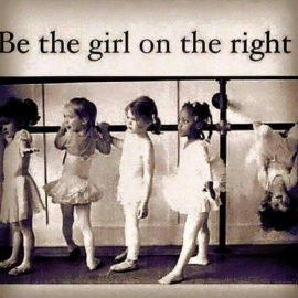 Be the girl on the right